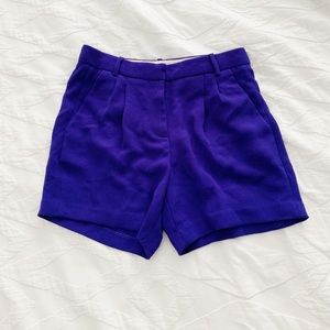 J Crew high waisted royal purple shorts size 0